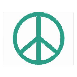 peace green postcard