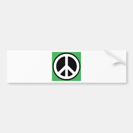 Peace Green Symbol! Bumper Sticker