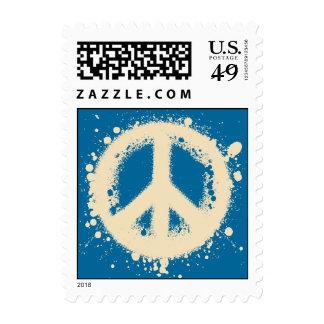 Peace Grunge Postage Stamp