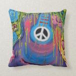 Peace Guitar American MoJo Pillows