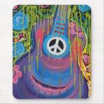 Peace Guitar Mouse Pad