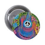 Peace Guitar Pinback Buttons