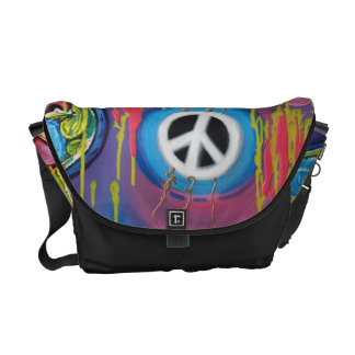 Peace Guitar Shoulder Bag Messenger Bags