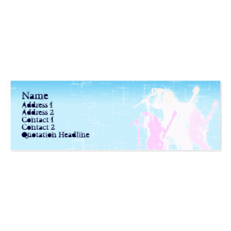 Peace Guitar Singer - Skinny Double-Sided Mini Business Cards (Pack Of 20)