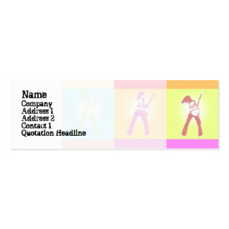 Peace Guitar  - Skinny Double-Sided Mini Business Cards (Pack Of 20)