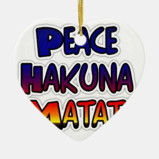 Peace Hakuna Matata Gifts Products Christmas Tree Ornaments