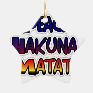 Peace Hakuna Matata Gifts Products Christmas Ornament