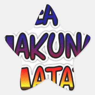 Peace Hakuna Matata Gifts Products Star Sticker