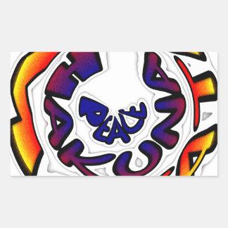 Peace Hakuna Matata Gifts Rectangular Sticker