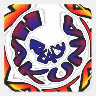 Peace Hakuna Matata Gifts Square Sticker
