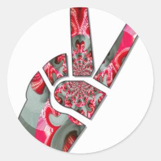 Peace Hakuna Matata love all to save all amazing p Classic Round Sticker