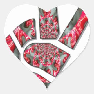 Peace Hakuna Matata love all to save all amazing p Heart Sticker
