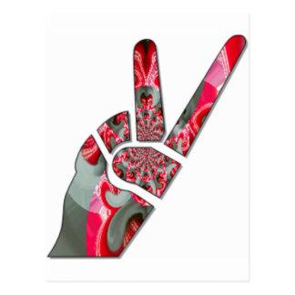 Peace Hakuna Matata love all to save all amazing p Post Card