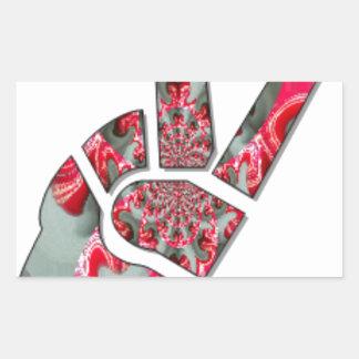 Peace Hakuna Matata love all to save all amazing p Rectangular Sticker