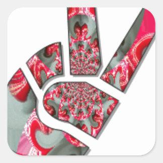 Peace Hakuna Matata love all to save all amazing p Square Sticker