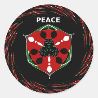 Peace  Hakuna Matata.png Classic Round Sticker