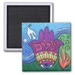 Peace Hamsa Magnet Magnets