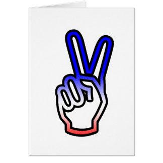 Peace Hand Card