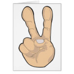 peace hand gesture cards