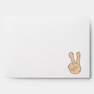 peace hand gesture envelope