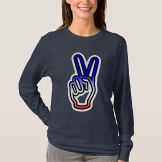 Peace Hand Large Graphic T-Shirt