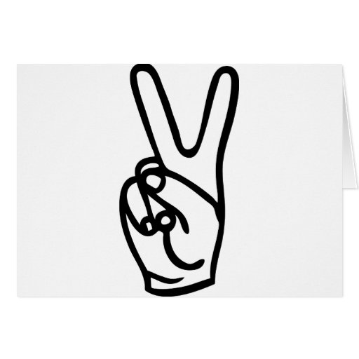peace hand - no war greeting card