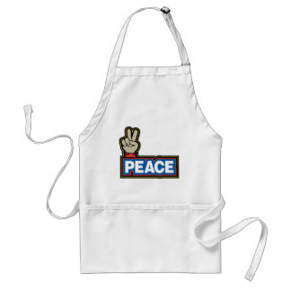 Peace Hand Sign Adult Apron