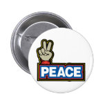 Peace Hand Sign Pin