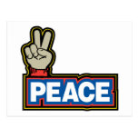 Peace Hand Sign Post Cards