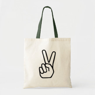 Peace Hand Sign Tote Bag