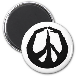 Peace Hands 2 Inch Round Magnet