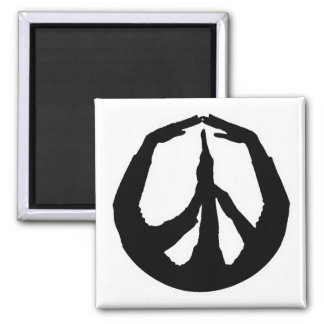 Peace Hands 2 Inch Square Magnet