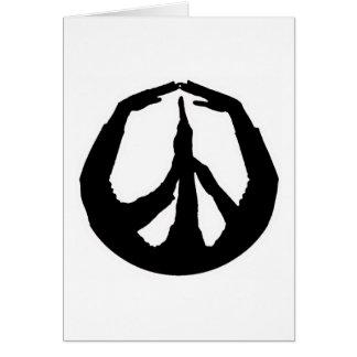 Peace Hands Card