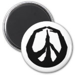 Peace Hands Refrigerator Magnets
