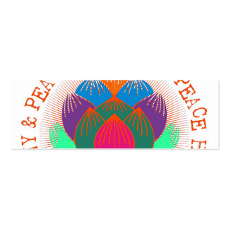 Peace Harmony Lotus Flower Double-Sided Mini Business Cards (Pack Of 20)