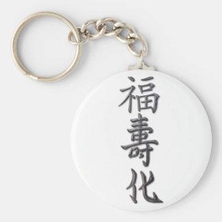 Peace, Harmony, Luck Keychain