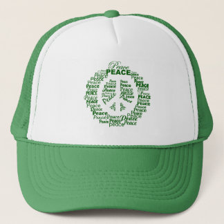 Peace hat - green