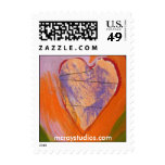 """'Peace Heart #1"""" Postage Stamps"""