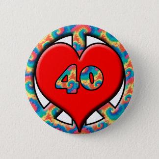 Peace, Heart, 40 Pinback Button