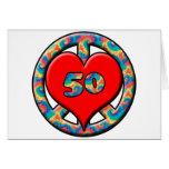 Peace, Heart, 50 Card