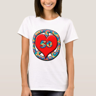 Peace, Heart, 50 T-Shirt