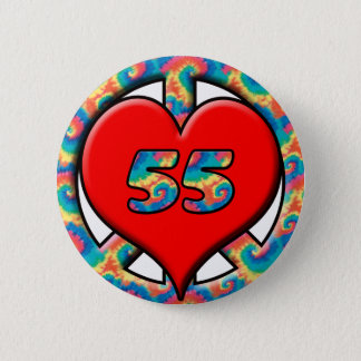 Peace, Heart, 55 Pinback Button