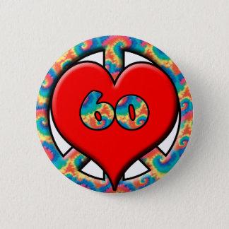 Peace, Heart, 60 Button