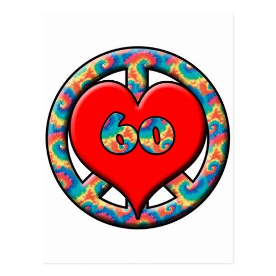 Peace, Heart, 60 Postcard