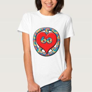 Peace, Heart, 60 Tee Shirt