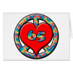Peace, Heart 65 Greeting Card