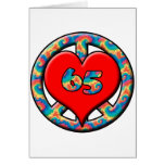 Peace, Heart 65 Greeting Cards