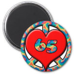 Peace, Heart 65 Magnets