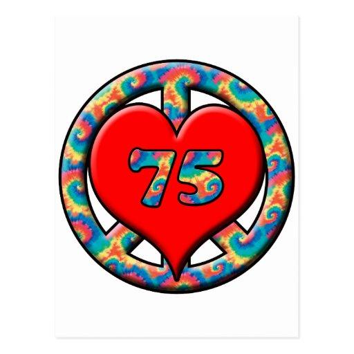 Peace, Heart, 75 Postcard