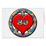 Peace, Heart, 80 Greeting Card